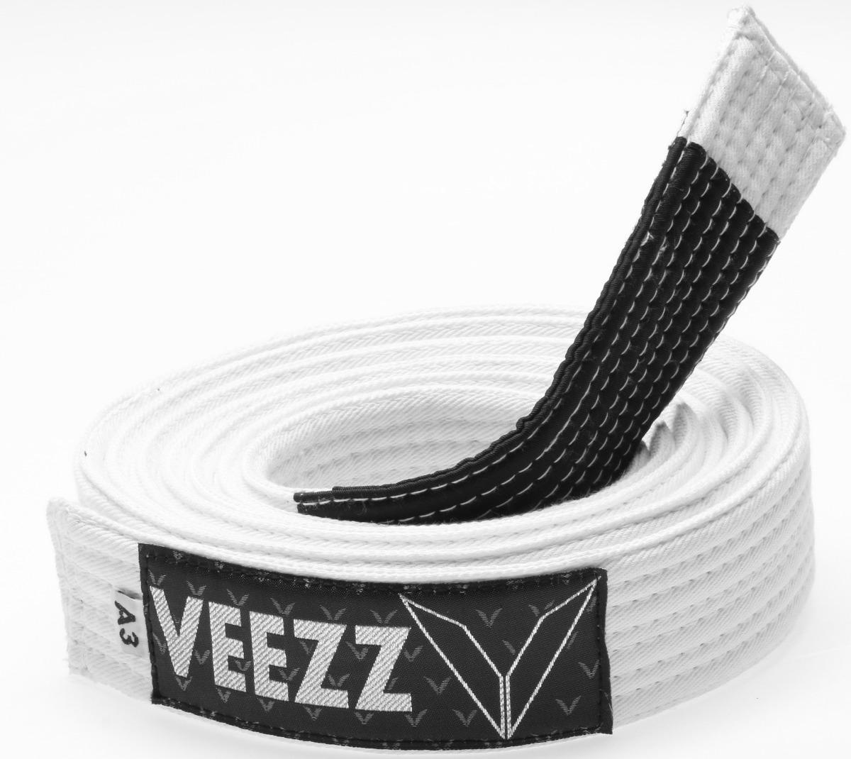 3c3fa931d faixa branca jiu jitsu grossa 8 costuras ponta preta- veezz. Carregando zoom .