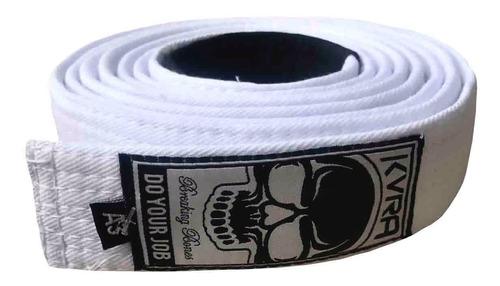 faixa branca jiu jitsu kvra oficial padrão cbjj 8 costuras