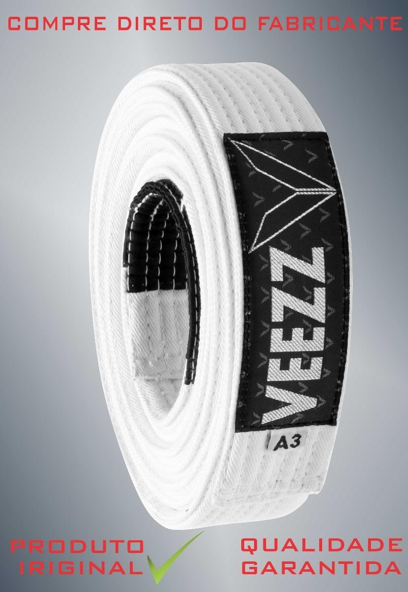 ca953695b faixa branca jiu jitsu reforçada ponta preta 8 costura veezz. Carregando  zoom.