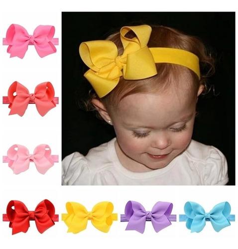 faixa cabelo bebê kit 06 tiara laço infantil menina gorgurão