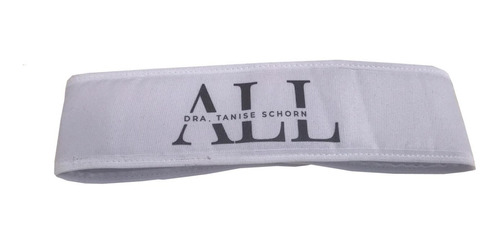 faixa cabelo com velcro branca 12un personalizada