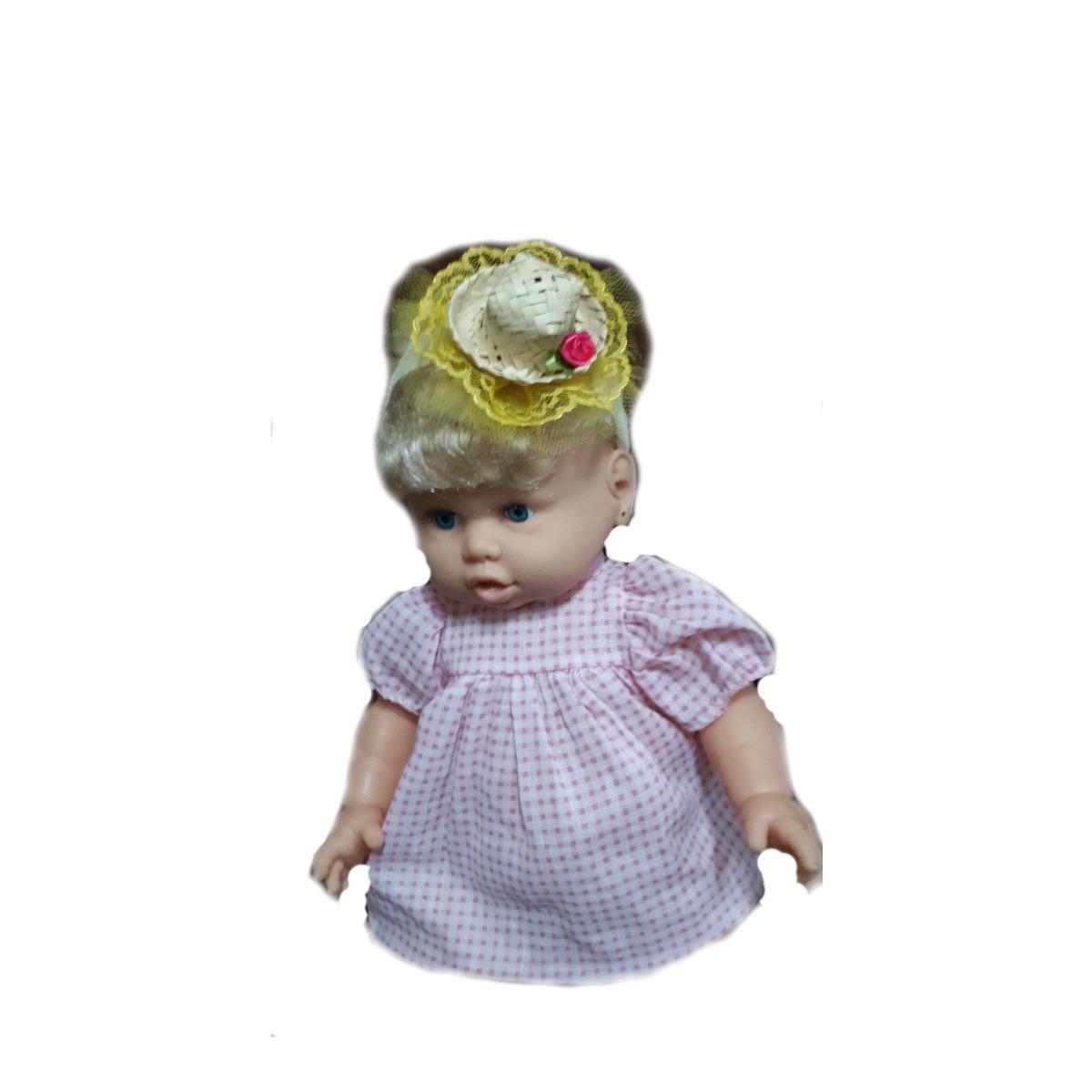 Faixa Cabelo Tiaras Laço Bebe Festa Junina Mini Chapéu Palha R 24