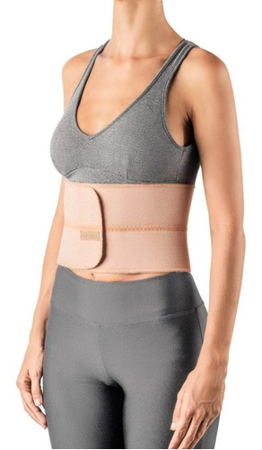 faixa cinta abdominal elástica 2 painéis g/gg hidrolight