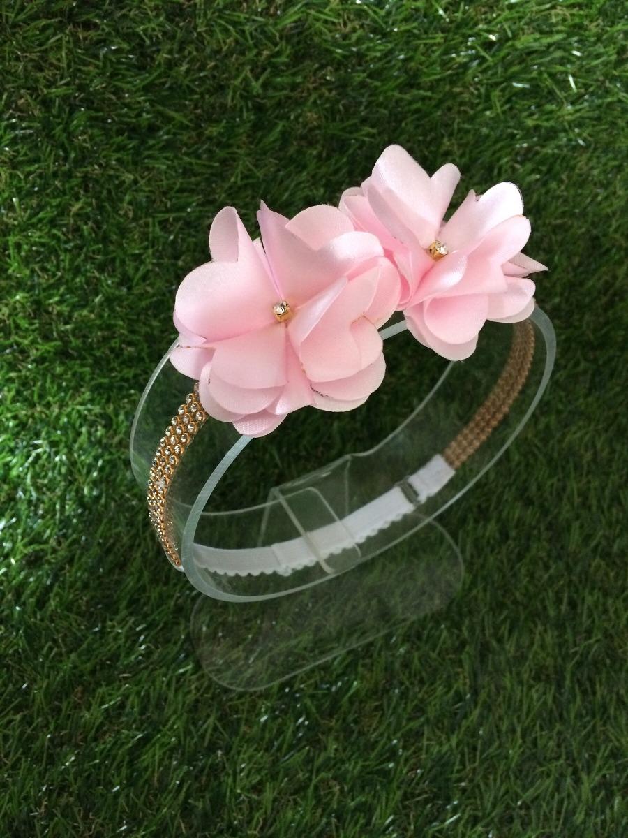 faixa de cabelo flor rosa bebê luxo. Carregando zoom. 9150dd017a4
