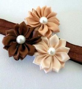 faixa de cabelo trio de flores