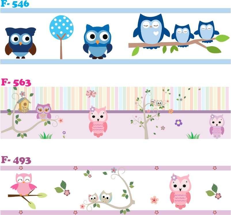 9231c96c1 faixa decorativa adesiva papel de parede infantil corujinha. Carregando zoom .