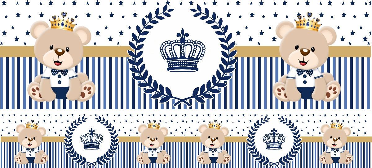 Faixa Decorativa Adesivo Bebe Infantil Urso Principe 10 Mts R