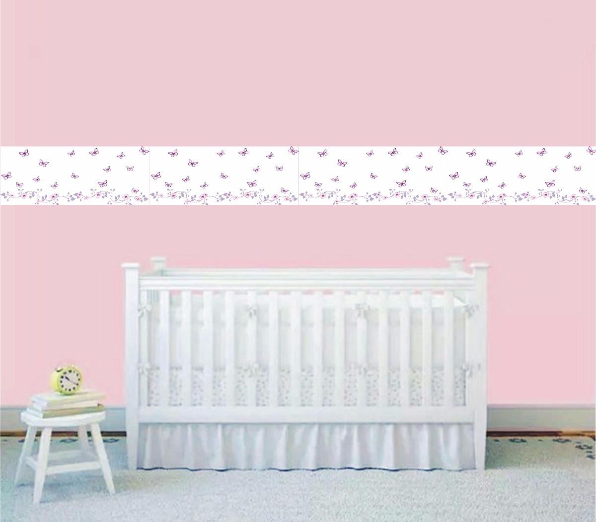 e59305a4b faixa decorativa adesivo border infantil borboleta. Carregando zoom.