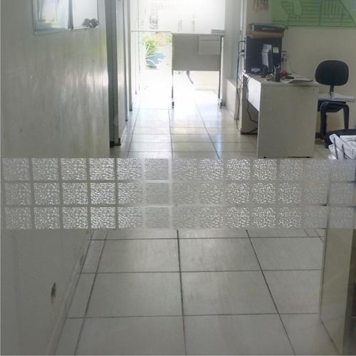 faixa decorativa adesivo jateado quadra larga portas vidro
