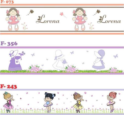 faixa decorativa adesivo parede infantil beb jolie bailarina