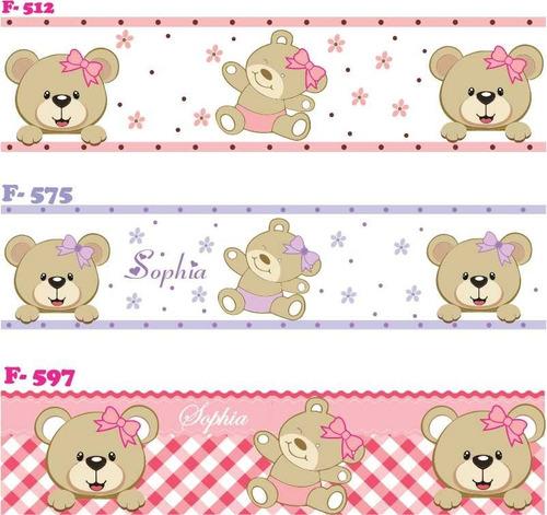 faixa decorativa adesivo parede infantil bebe ursinhas
