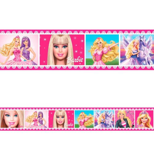 faixa decorativa barbie já vem com cola 1 metro por 15cm