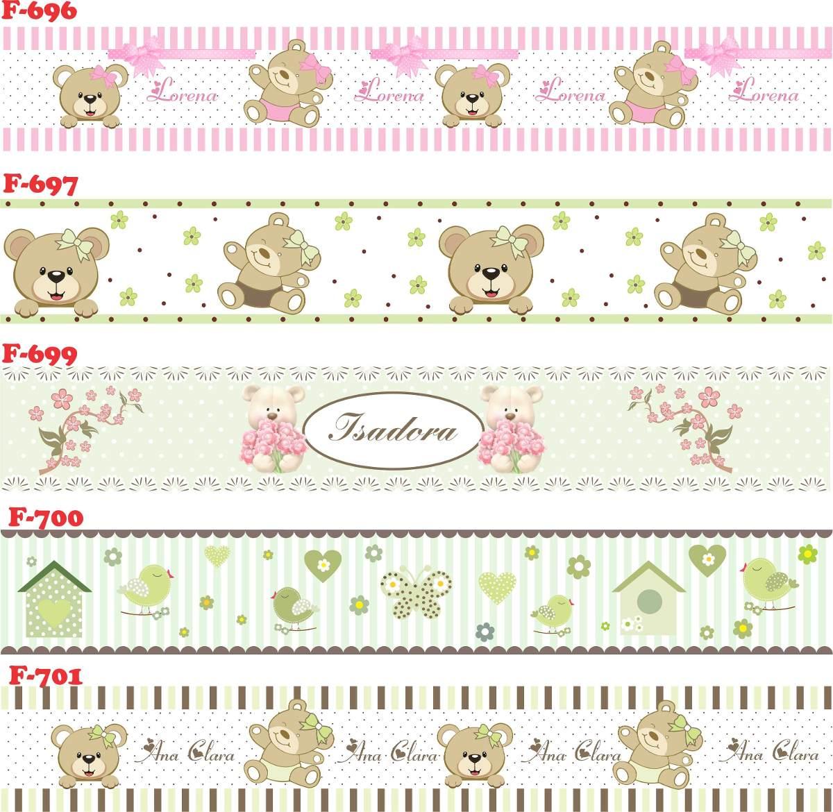 d547df348 faixa decorativa border adesivo infantil bebe ursinhos. Carregando zoom.
