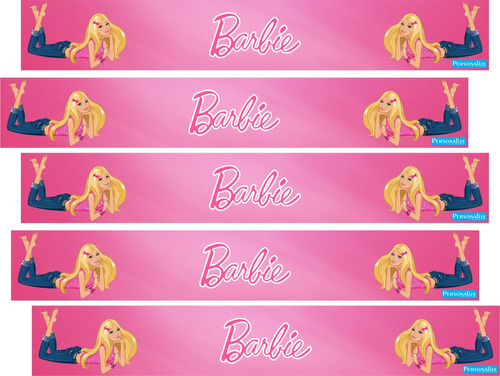 faixa decorativa border quarto barbie - frete grátis