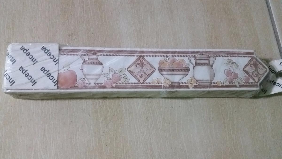 Faixa decorativa cer mica para cozinha pacote c 4uni r for Ceramica decorativa pared