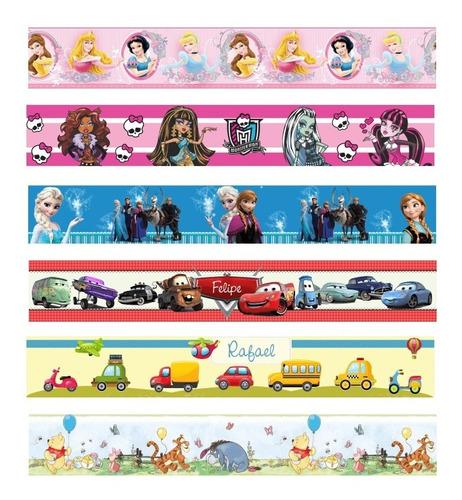 faixa decorativa de parede infantil border princesas