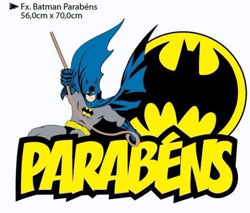 faixa decorativa parabens para festa batman