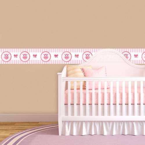 faixa decorativa parede quarto bebe coruja 13 metros