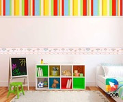 faixa decorativa - quarto - 1m x 20cm - menininha