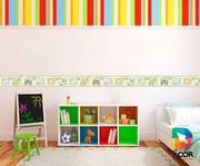 faixa decorativa - quarto - 1m x 20cm - safari