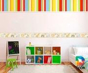 faixa decorativa - quarto - 1m x 20cm - safari zoo