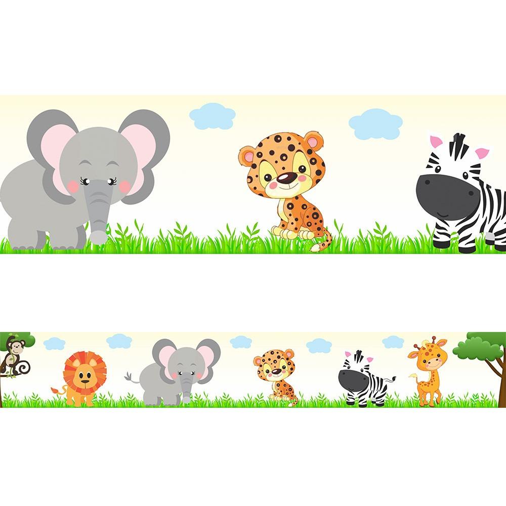 861570cfc faixa decorativa quarto bebe safari bege 3 metros. Carregando zoom.