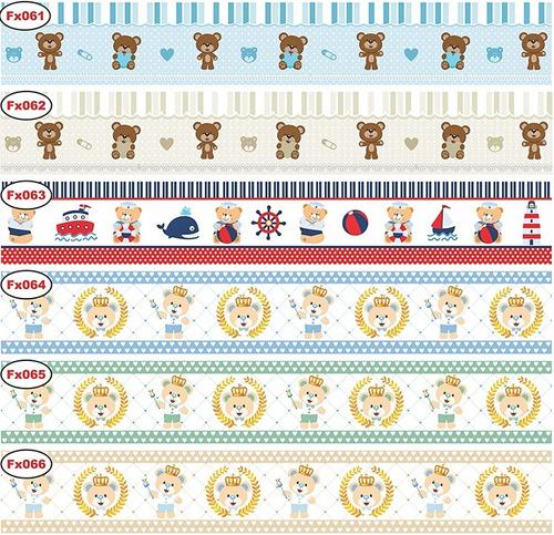 faixa decorativa ursinho menina e menino 2 metros