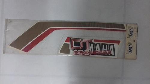 faixa dt 180 ano 82 - adesivo yamaha - dt 180 ano 82 - preta