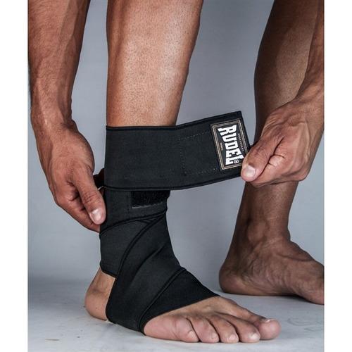 faixa elástica joelho / tornozelo - rudel(preto)