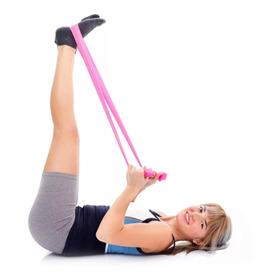 Faixa Elastica Pilates Media Intens. Exercicios Fisioterapia