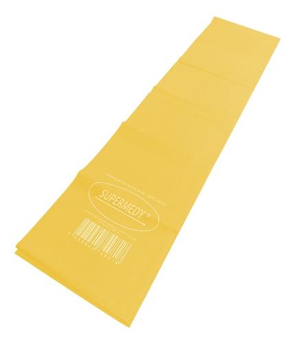 faixa elástica superband amarela leve 120 x 15 cm supermedy