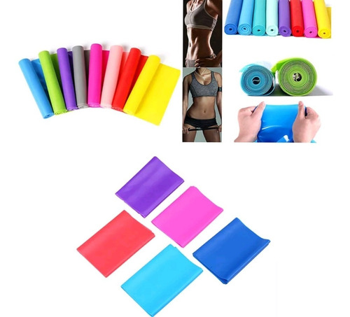 faixa elástica thera band pilates ioga kit c/ 3 niveis inten