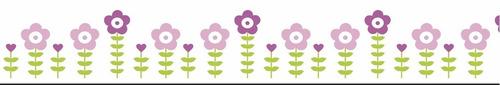 faixa  infantil florzinhas