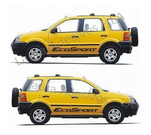 faixa lateral ecosport ford laura adesivos tuning sport