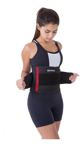 faixa modeladora abdominal training infravermelho bioativa