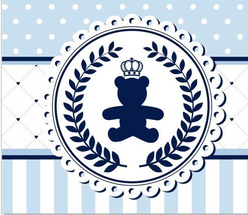 Faixa Personalizada Ursinho Principe Rei Menino Desenho R 12 90