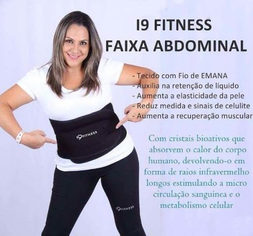 Faixa Redutora De Medidas I9 Fitness Akmos - R  249 bdf700563b8