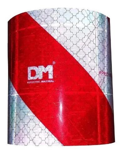 faixa refletiva dm parachoque caminhão baú moto (padrão 3m)
