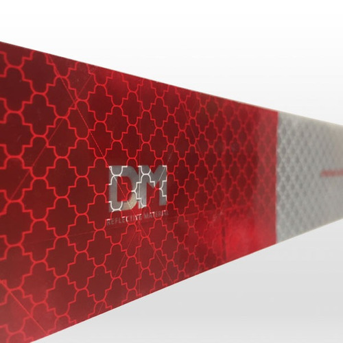 faixa refletiva lateral dm caminhão - (padrão 3m) - denatran