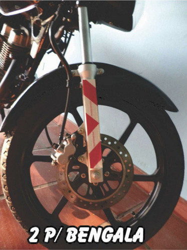 faixa refletiva p/ motos - motofrete / motoboy - kit 5 peças