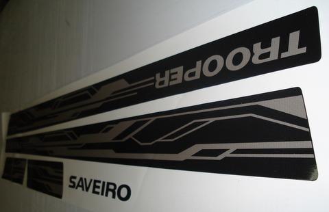 faixa saveiro trooper 2013 preta - frete gratis