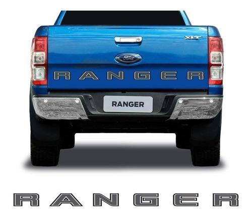 faixa traseira ford ranger 2020 adesivo modelo original