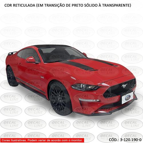 faixas auto adesivas mustang gt 5.0 premium 2020 capô e late