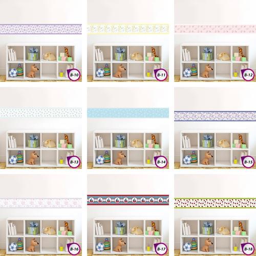 faixas bebe decorativa adesivo papel parede border
