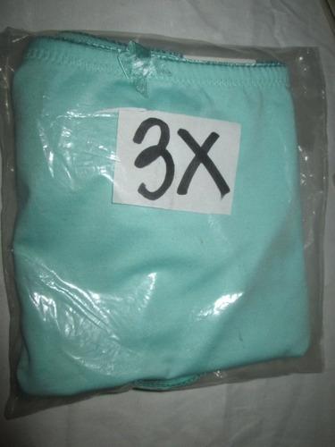 faja azul calzon spandex  en talla 3x americana