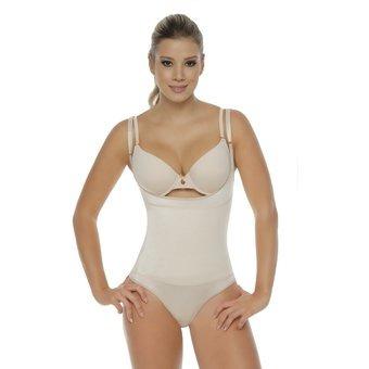 faja body senos libres/tanga body line control 1107t - piel