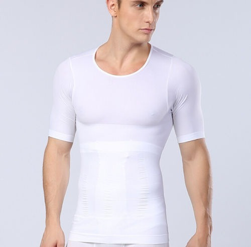 faja camiseta fuerte compresión hombre pecho abdomen cintura