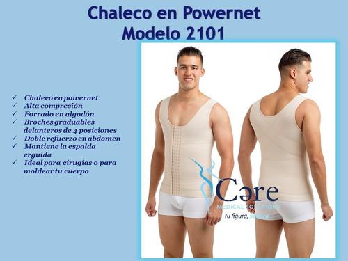 faja chaleco colombiana hombre broches postquirúrgica cms