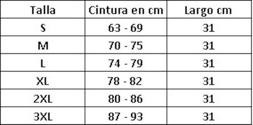 faja chaleco reductor colombiana negra