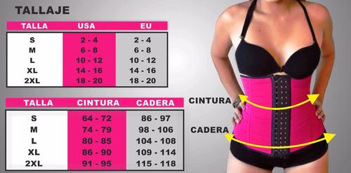 faja cinturilla corset latex con varilla gym belt+ obsequio